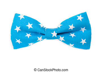 USA American flag on the bow tie isolated on white background