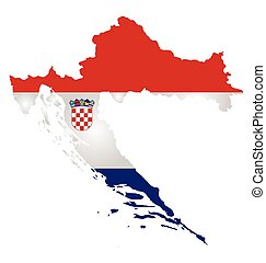 Croatia Flag - Flag of the Republic of Croatia overlaid on...