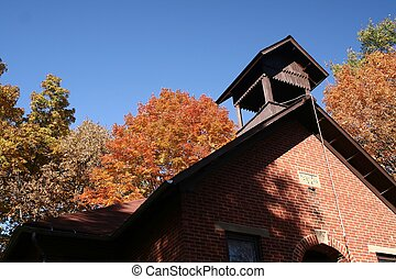 School House - The bell tower of a one room school house...