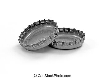 Bottle Caps - A couple of bottle caps isolated on white...