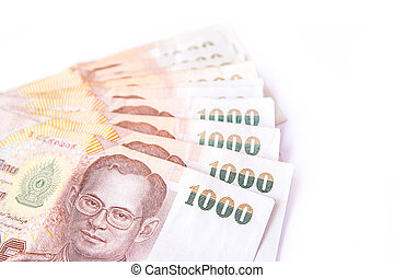 Thai banknote isolated on white background