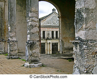 Old hacienda in Yucatan, Mexico - Unrestored hacienda with...
