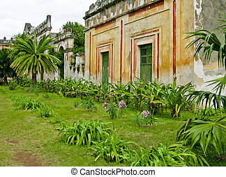 Hacienda Yaxcopoil in Yucatan, Mexico - Partial view of...