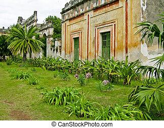 Hacienda Yaxcopoil in Yucatan, Mexico - Partial view of...