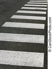 crosswalk - detail of a crosswalk on a street