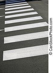 crosswalk - detail of a crosswalk on a street