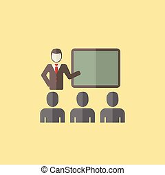 Lecture Icon - Flat Lecture Icon Vector Graphics