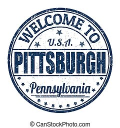 Welcome to Pittsburgh stamp - Welcome to Pittsburgh grunge...