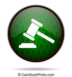 auction green internet icon