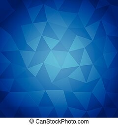 Abstract triangle with blue background