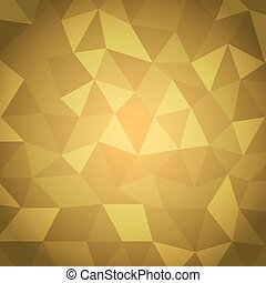 Abstract triangle with yellow background