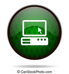 computer green internet icon