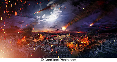 Conceptual photo of the apocalypse - Conceptual photo of the...