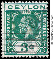Stamp printed in CEYLON shows image - CEYLON - CIRCA 1911: A...