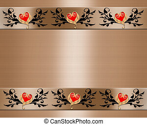 Wedding Invitation Elegant Borders - 3D ornamental accents...