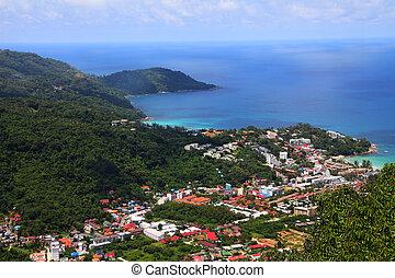 Viewpoint of Phuket at Thailand.