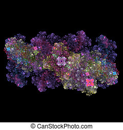 Symmetrical growth of bacteria - 3d render illustration of...