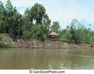 Rio Napo River - Cabana home along the Rio Napo River,...