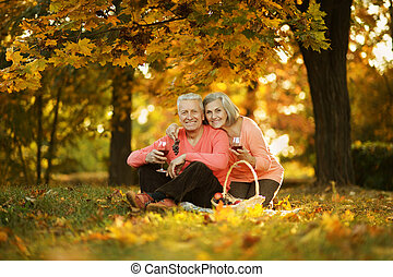 caucasian elderly couple - Beautiful caucasian elderly...