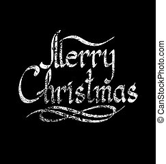 Merry Christmas text - Vector calligraphic text Merry...