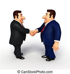 Young Business Man with shake hand - Illustration of Young...