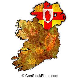 mapa,  ulster, IRLANDIA