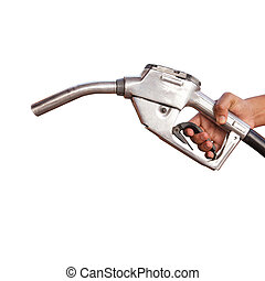 Gasoline fuel on white background