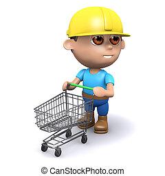 3d Builder has an empty shopping trolley