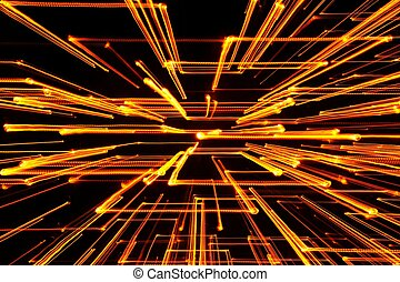 Yellow Glowing Geometric Lines - Yellow glowing geometric...