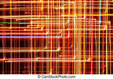 Multicolored Glowing Geometric Lines - Multicolored glowing...