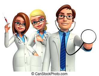 Young Doctors  - Illustration of young doctors