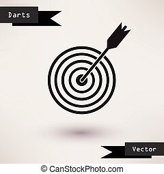 Pictograph of target Vector icon Template for your design. -...