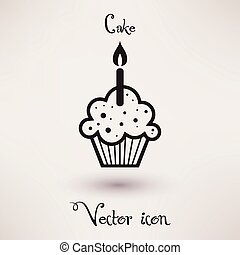 Pictograph of cake Vector icon Template for your design. -...