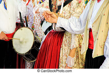 Folklore of Provence - People dressed up in traditional...
