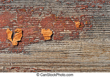 Obsolete painted wood