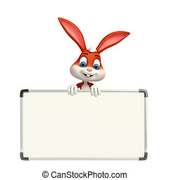 Easter Bunny with display board - Cartoon Character of...