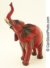 isolated object. - Souvenir from Thailand. An elephant with...