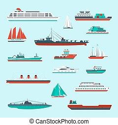 Ships and boats set