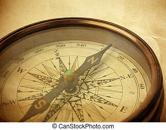 vintage compass - special toned and textured f/x, selective...