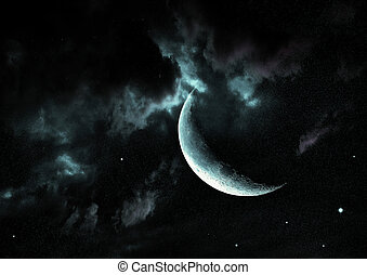 """moon in the night sky""""Elements of this image furnished by..."""