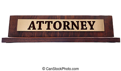 Attornet name plate - Wooden nameplate with Attorney title...