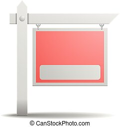 Real Estate Sign - detailed illustration of an empty real...