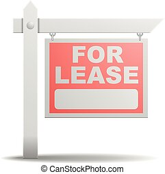 Sign For Lease - detailed illustration of a For Lease real...