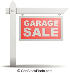 Sign Garage Sale - detailed illustration of a Garage Sale...