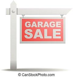 Sign Garage Sale - detailed illustration of a Garage Sale...