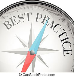 compass best practice - detailed illustration of a compass...