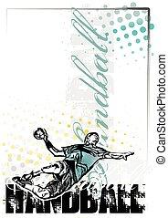 handball poster background - handball vector poster...
