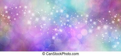 Beautiful bokeh sparkly website hea - Wide multicolored...