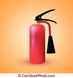 Vector illustration of red fire extinguisher - Red fire...