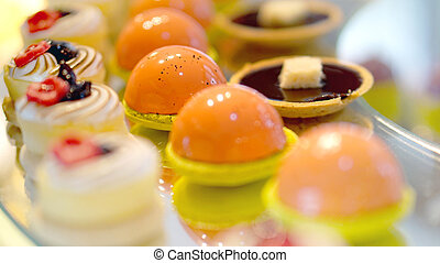 colouful dessert buffet, afternoon high tea